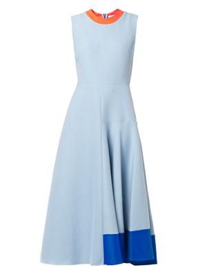 Orla contrast-panel dress