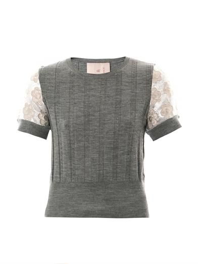 Roksanda Ilincic Kemble cropped sweater