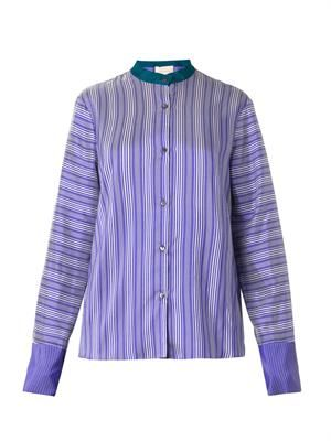 Marlow striped silk blouse
