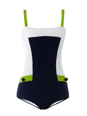 Enzo colour-block swimsuit