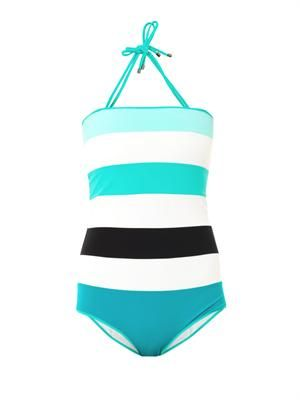 Talia stripe panel swimsuit