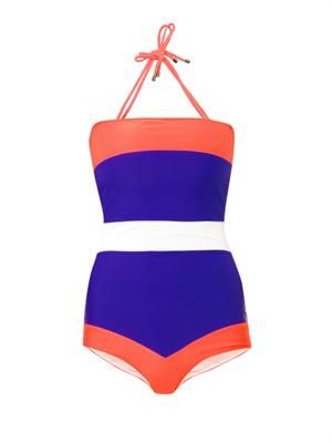 Talgo colour block swimsuit