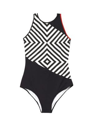 Kapaa striped-panel swimsuit