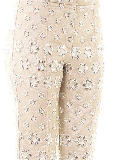 Roksanda Montague floral jacquard trousers