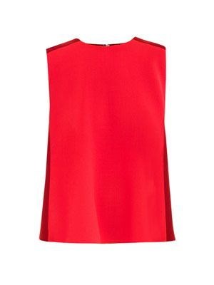 Sauton bi-colour crepe top