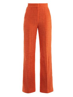 Marcel cotton-tweed flared trousers