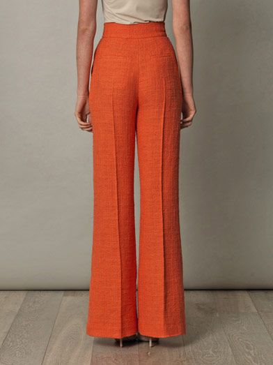 Roksanda Ilincic Marcel cotton-tweed flared trousers