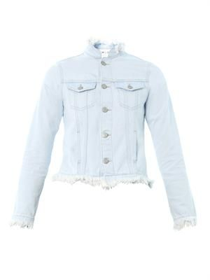 Frayed-edge denim jacket