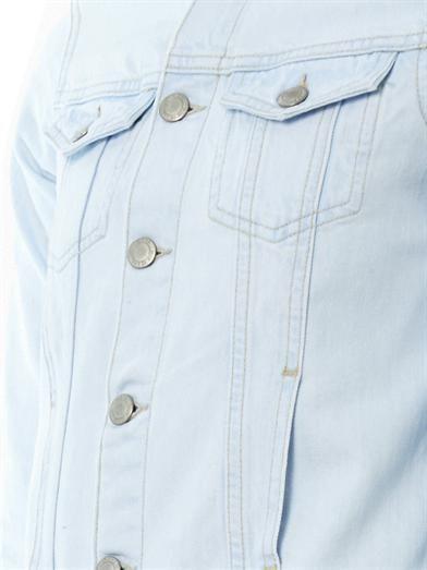 MiH Jeans Frayed-edge denim jacket