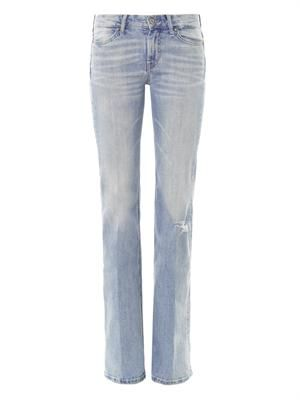 Cape mid-rise skinny flare jeans