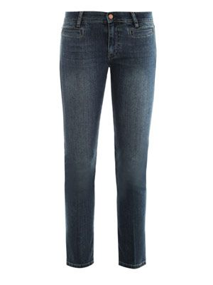 Paris mid-rise cropped slim-leg jeans