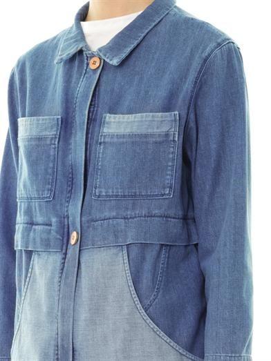 MiH Jeans Denim patchwork parka