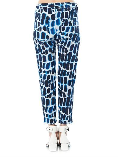 MiH Jeans Crocodile-print silk trousers