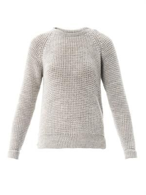 School square-knit sweater