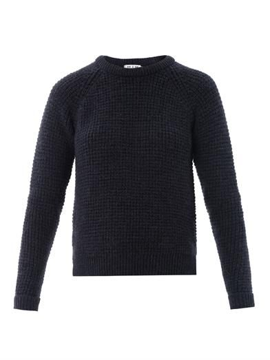 MiH Jeans School square-knit sweater