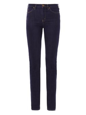 Nouvelle high-rise straight-leg jeans