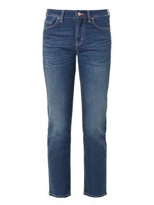 Halsy high-rise straight-leg jeans