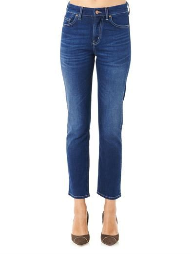 MiH Jeans Halsy high-rise straight-leg jeans