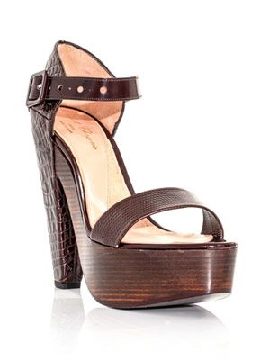 Drakar croc-stamped leather sandals