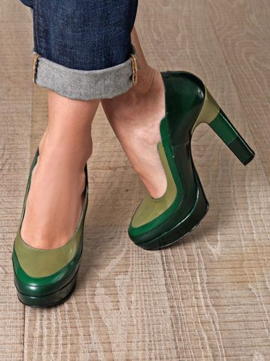 Robert Clergerie Lorna colour-block shoes