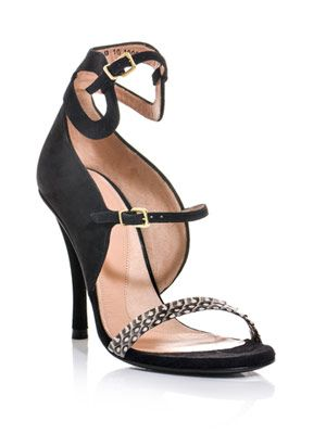 Dayans graphic snake sandals