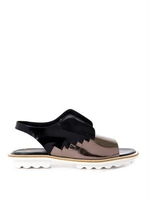 Bailly leather flat sandals