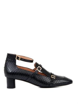 Pandy embossed leather shoes