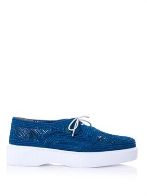 Poco raffia lace-up shoes