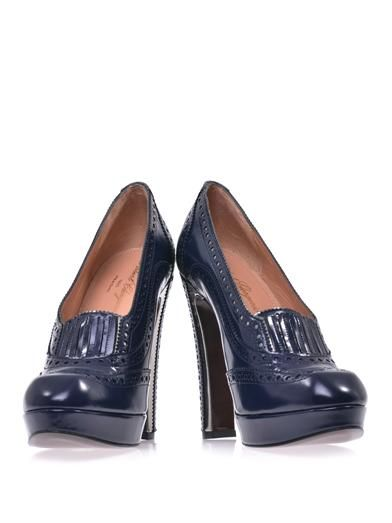 Robert Clergerie Lazar high-heel brogues