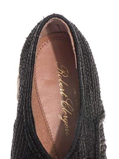 Robert Clergerie Naval plaited-raffia flatform shoes