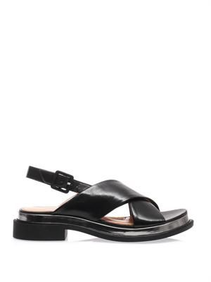 Caliba cross-front sandals