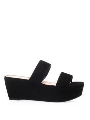 Frazzia suede wedge sandals