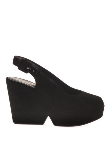 Robert Clergerie Dylan suede wedge sandals