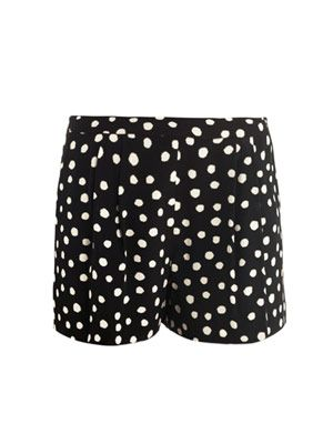 Ikat dot-print silk shorts