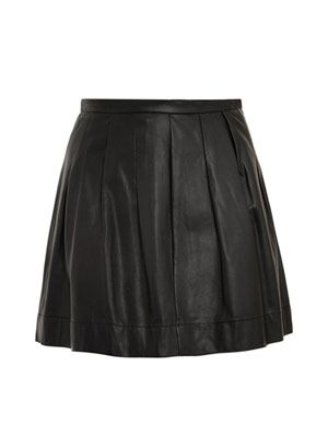 Full leather mini skirt