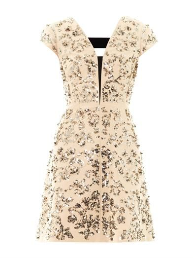 Rebecca Taylor Scroll-embellished day dress