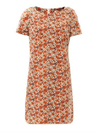 Rebecca Taylor Sweet William-print silk dress