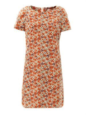 Sweet William-print silk dress