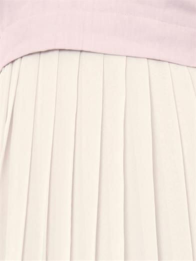 Rebecca Taylor Pleated-skirt V-neck dress