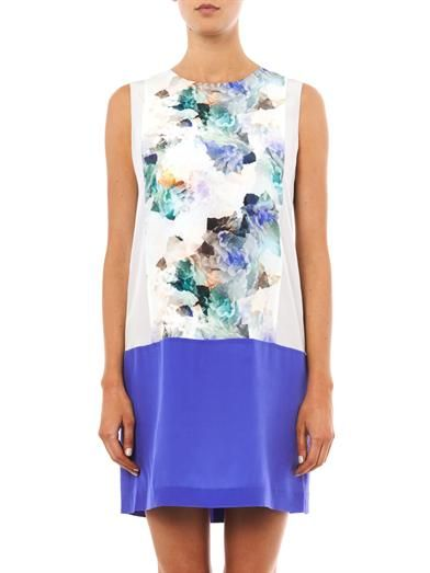 Rebecca Taylor Enchanted Garden-print silk shift dress