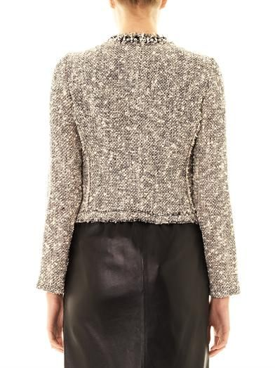 Rebecca Taylor Embellished-neckline tweed jacket