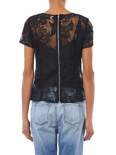 Rebecca Taylor Floral lace top