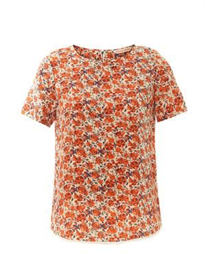 Sweet William-print silk top