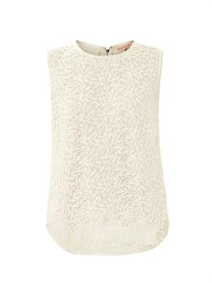 Guipure lace sleeveless top