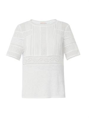 Novelty broderie-anglaise T-shirt