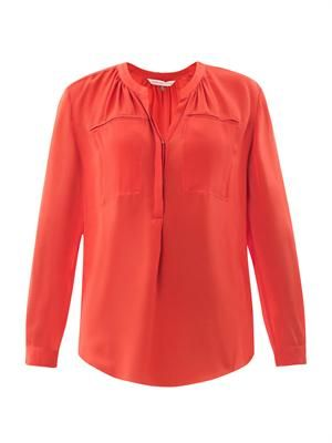 Henley two pocket blouse