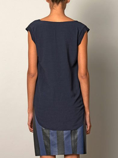 Rebecca Taylor Draped side sleeveless blouse