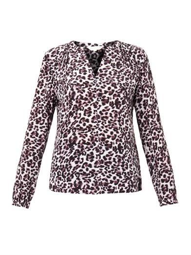 Rebecca Taylor Lynx-print silk blouse