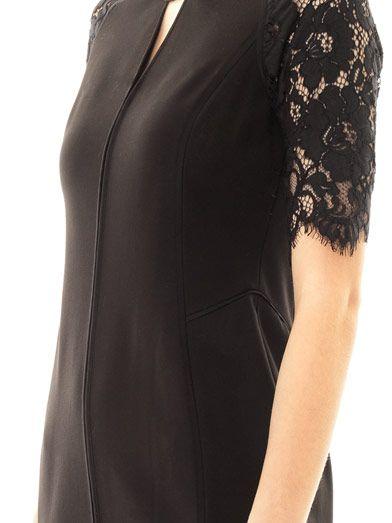 Rebecca Taylor Lace-sleeve dress