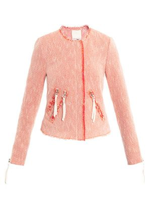 Neon tweed jacket